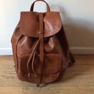 Madewell leather backpack in Tan